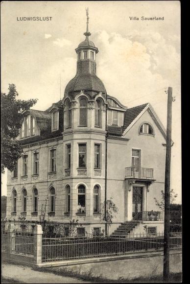 Ansichtskarten: Ludwigslust - Villa Sauerland 1915